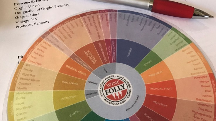 Wine Folly aroma and flavor finder, a colored wheel